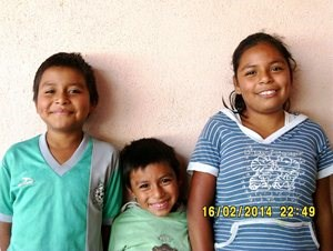 The family of young students in Central America